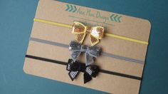 This listing is for three mini sequin bows on matching skinny headbands. These bows are sweet and adorable. Perfect for everyday wear or to be used