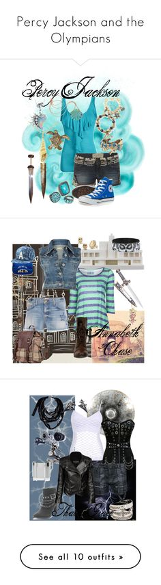 """Percy Jackson and the Olympians"" by meagan-wymbs ❤ liked on Polyvore featuring Ally Fashion, Friis & Company, Sydney Evan, AllSaints, Betsey Johnson, Alkemie, Converse, Rosita Bonita, Chisel & Mouse and Current/Elliott"
