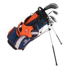 UL51 5 Club Stand Bag Set All Graphite, Navy/Orange/White Bag | Equipment