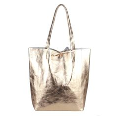 Marked your friends so they can see it. Italian Women's Leather Bag Shopper Shoulder Tote Bag Tote Bag Metallic: End Date: Tuesday… Metallic Handbags, Leather Handbags, Leather Bag, Silver Handbags, Bucket Bag, Hand Bags 2017, Italian Women, Brown Bags, Fashion Bags