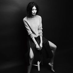 Actress #gemma_chan wears our SUNO Fall 2015 skirt in #interviewmag