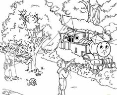 Train Thomas the tank engine and friends coloring Page