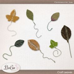 Craft Leaves by #LouCee Creations.  #sugarhillco