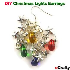DIY Christmas Lights Earrings Recipe from eCrafty.com