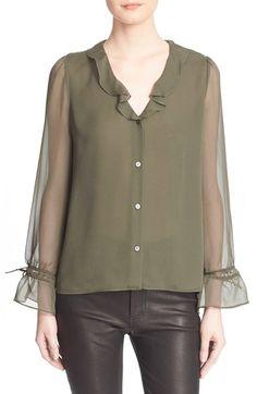 DIANE VON FURSTENBERG 'Kirsty' Ruffled Silk Blouse. #dianevonfurstenberg #cloth #