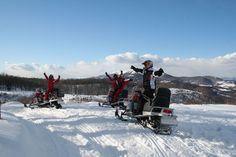 Aventuri pe snowmobil la Icoana Cavnic, din judeţul Maramureş – I Love Maramures