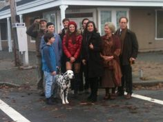 """Jamie Dornan as Sheriff Graham with the cast of Once Upon A Time in a behind the scenes photo from the filming of season 2 episode 17 """"Welcome To Storybrooke"""" http://www.everythingjamiedornan.com/gallery/thumbnails.php?album=174 http://www.facebook.com/everythingjamiedornan"""