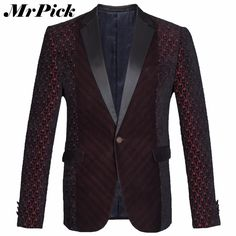 Wine Red Woolen Winter Casual Blazer Fashion Slim Fit Solid Color High Quality 2016 New Arrival Suit Jackets E1408