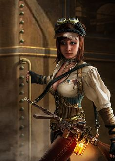 Steampunk Gal by Lincoln Renall | Steampunk | 2D | CGSociety