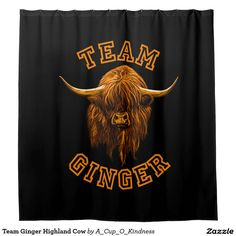 Team Ginger Highland Cow