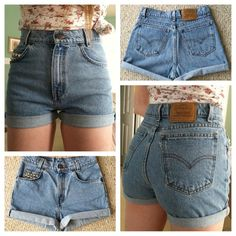 { ON SALE } Lightly distressed, studded, and cuffed, these Levi high waisted shorts are the perfect addition to every wardrobe. Wear with tights and a sweater in the winter or a floral crop top (for a femine touch) in the summer. Thanks for shopping lovelies <3 xoxo