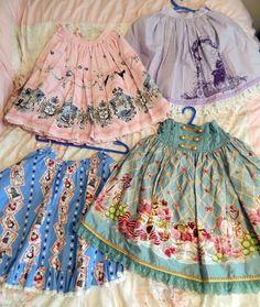 A&P; Pirates Alice II skirt, Meta Thumbelina Skirt, Bodyline Alice cards skirt, Bodyline military sweets skirt
