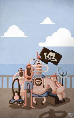 Piratas by Lakas Martínez, via Behance