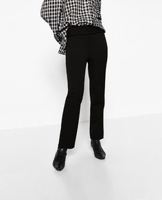 Image 2 of SKINNY TROUSERS WITH TURN-DOWN WAIST from Zara