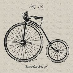 Vintage bike drawing
