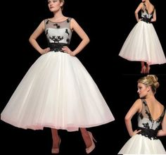 Fashion Tea Length Wedding dress Ball Gown Short by Swarovski169, $153.00