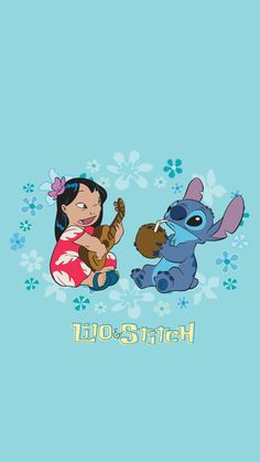 Lilo and Stitch Cartoon Wallpaper Iphone, Disney Phone Wallpaper, Cute Cartoon Wallpapers, Cute Wallpaper Backgrounds, Lilo And Stitch Quotes, Lilo Et Stitch, Cute Disney Drawings, Cute Drawings, Disney Art