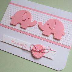 Baby Girl Cards Handmade Hands New Ideas Handmade Greetings, Greeting Cards Handmade, Newborn Congratulations, Birthday Greetings, Birthday Cards, Baby Girl Cards, Baby Girl Birthday, Baby Album, Cute Cards