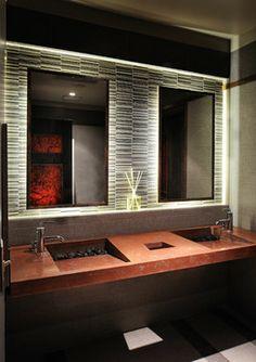 1 Piece Integral Concrete Sinks   Contemporary   Bathroom   Houston   Legal  Eagle Contractors