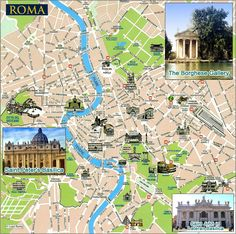 Rome Tourist Map - Rome Italy • mappery