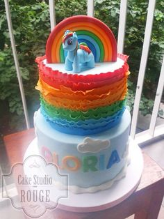 Rainbow dash - Cake Studio Rouge - Belgrade
