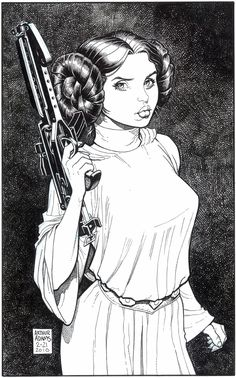 Star Wars: Princess Leia-Arthur Adams Comic Art