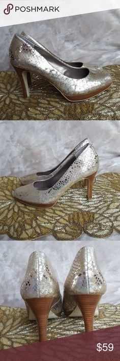 """Moda International Heels Breathtakingly beautiful heels! Moda Intnl is a Victoria's Secret brand These were worn only once! In excellent condition!  Heel is approximately 4"""" Made in Spain  ♥️Non-smoking pet-free home♥️  🤝Save $$Bundles are better!🤝 🌹I always accept reasonable offers🌹 Moda International Shoes"""