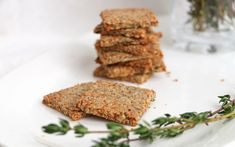 <p>Parsnip and thyme, sunflower seeds, hazelnuts—these grain-free and gluten-free crackers are so delicious and satisfying.</p>