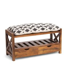 Wooden Upholstered Bench - Accent Furniture - T. Dining Table Bench Seat, Piano Bench, Chair Bench, Entryway Bench Storage, Storage Ottoman Bench, Bench With Storage, Small Wooden Bench, Wooden Shelves, Bench Cushions