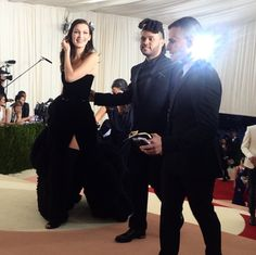 Bella Hadid and Abel Tesfaye (The Weeknd) at the 2016 MET Gala