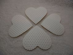 Embossed Paper Piece Set of Very by JudeAlyssaMarkus Embossed Paper, French Vanilla, Scrapbook Embellishments, Paper Hearts, Homemade Cards, Mini Albums, Card Stock, Valentines, Etsy