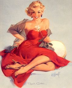 Pin-up by Al Buell (1910-1996).
