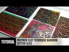 (15) DIY How to make Rainbow Sutton Slice. Polymer clay Technique. VIDEO Tutorial! - YouTube
