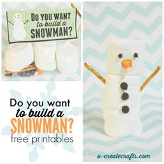 """Do You Want to Build a Snowman"" favours / craft packs - fun kids activity that would make cute stocking fillers!"