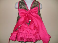 Baby Girl Pink Realtree Camo Dress (Back)  #realtreecamo