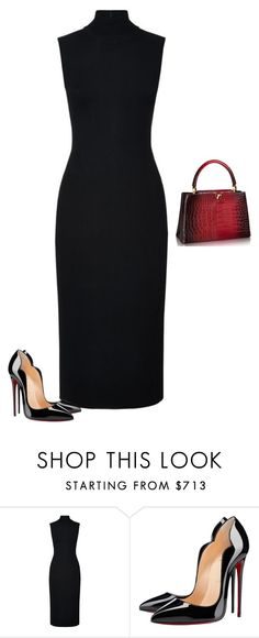 """""""Untitled #1710"""" by quaybrooks on Polyvore featuring Harrods, Christian Louboutin, women's clothing, women, female, woman, misses and juniors"""