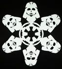 Have fun with these Star Wars Snowflake Designs and Light Sabers, Jedis, Droids and more. For Star Wars lover, we have put together a collection of exciting Star Wars printables, foods and other Star Wars party ideas! Star Wars Snowflakes, 3d Paper Snowflakes, Quilted Christmas Ornaments, Star Wars Christmas, Christmas Windows, Star Wars Birthday, Star Wars Party, Christmas On A Budget, Christmas Crafts