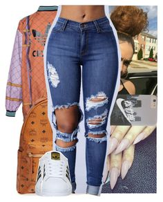 """ :: Tuesday"" by theyknowtyy ❤ liked on Polyvore featuring MCM and adidas"