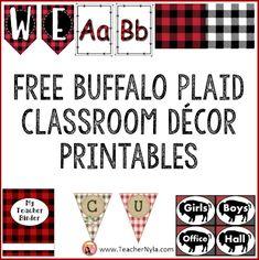 Free Buffalo Plaid Classroom Decor Printables from TpT Classroom Jobs, Classroom Bulletin Boards, Classroom Decor, Free Teaching Resources, Teaching Ideas, Sixth Grade, Second Grade, School Forms, Cvce Words