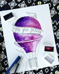 "566 Likes, 11 Comments - SilJy (@sil.jy) on Instagram: ""Another galaxyballoon 🌌 inspired by a picture I found on Pinterest #galaxy #galaxyart…"""