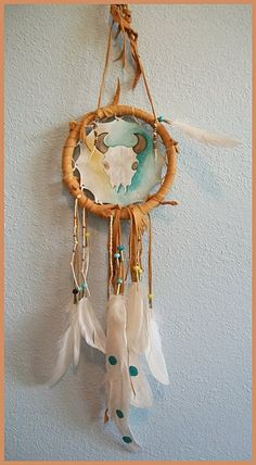 Lodge Shield EXAMPLE ONLY Leather Hoop by aboriginalsbykate, $220.00