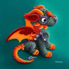 Coloriage Dragon écaillé thumbnail