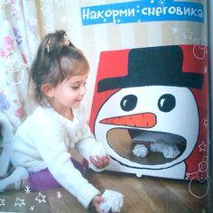 11 декабря: сделать самой такого снеговика и поиграть с Мишей
