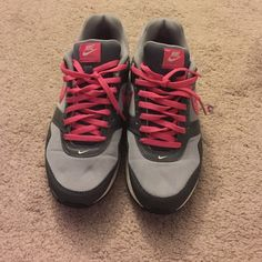 Pink/ grey air max Great condition! Size 5y fits about a 6.5 in women's. I am a size 7 and they where a little too small for me. Nike Shoes Athletic Shoes