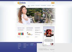 Projeto Gráfico para site institucional Lindóia Shopping