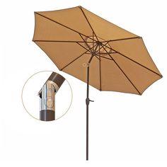 Umbrella Aluminum Table Market Umbrella Crank Lift Push Button Tilt, Beige Outdoor Umbrella, Aluminum Patio, Market Umbrella, Patio Table, Beige, Tilt, Marketing, Ebay, Button