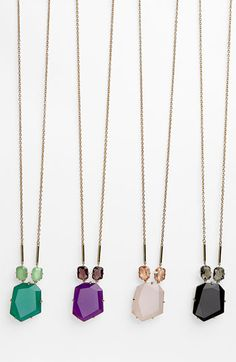 kate spade new york colored stone pendant necklace (Nordstrom Exclusive) | Nordstrom