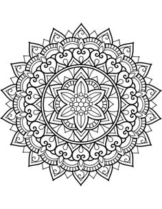 Moon Printable Adult Coloring Page – Coloring Mandalas Flower Coloring Pages, Mandala Coloring Pages, Mandalas Drawing, Zentangles, Printable Adult Coloring Pages, Mandala Tattoo Design, Clip Art, Flower Mandala, Colorful Drawings