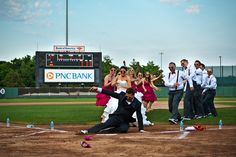 Ripken Stadium Wedding by Gronde Photography. Orioles/baseball wedding ideas!
