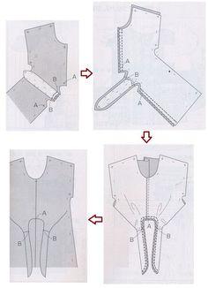 Stylish Dress Designs, Stylish Dresses, Dress Sewing Patterns, Blouse Patterns, Origami Patterns, Bodice Pattern, Mode Abaya, Look Fashion, Fashion Design